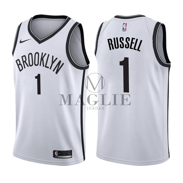 Maglia NBA Nike Brooklyn Nets NO.1 D'Angelo Russell Bianco Association A Poco Prezzo Online
