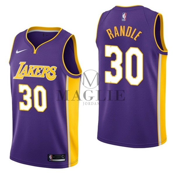 Maglia NBA Nike Los Angeles Lakers NO.30 Julius Randle Porpora Statement A Poco Prezzo Online