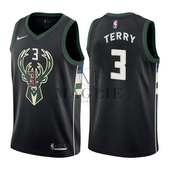 Maglia NBA Nike Milwaukee Bucks NO.3 Jason Terry Nero Statement A Poco Prezzo Online