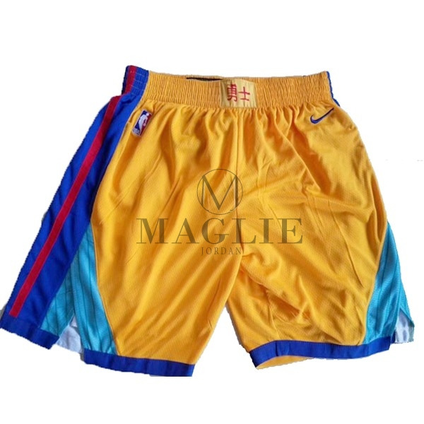 Pantaloni Basket Golden State Warriors Nike Giallo A Poco Prezzo Online