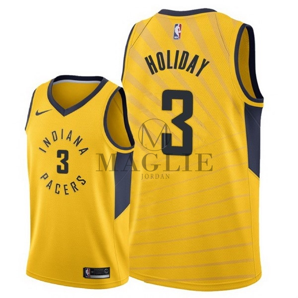 Maglia NBA Nike Indiana Pacers NO.3 Aaron Holiday Giallo Statement 2018 A Poco Prezzo Online