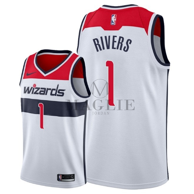 Maglia NBA Nike Washington Wizards NO.1 Austin Rivers Bianco Association 2018 A Poco Prezzo Online