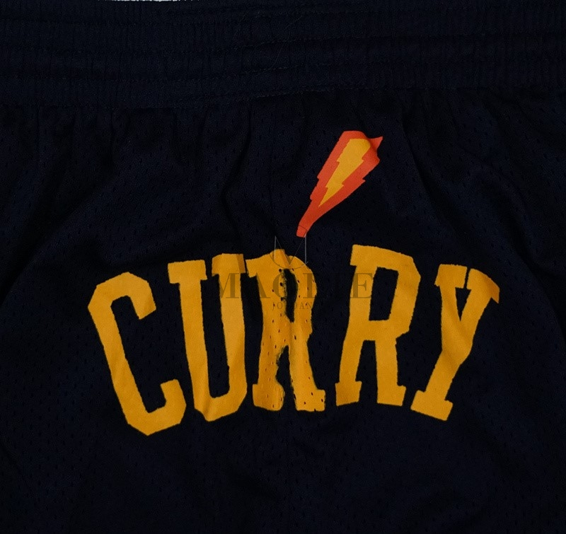 Pantaloni Basket Golden State Warriors 2018 Campionato Finali NO.30 Stephen Curry Nero A Poco Prezzo Online