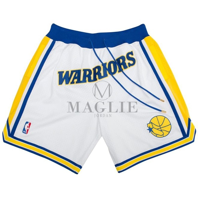 Pantaloni Basket Golden State Warriors Nike Retro Bianco 2018 A Poco Prezzo Online
