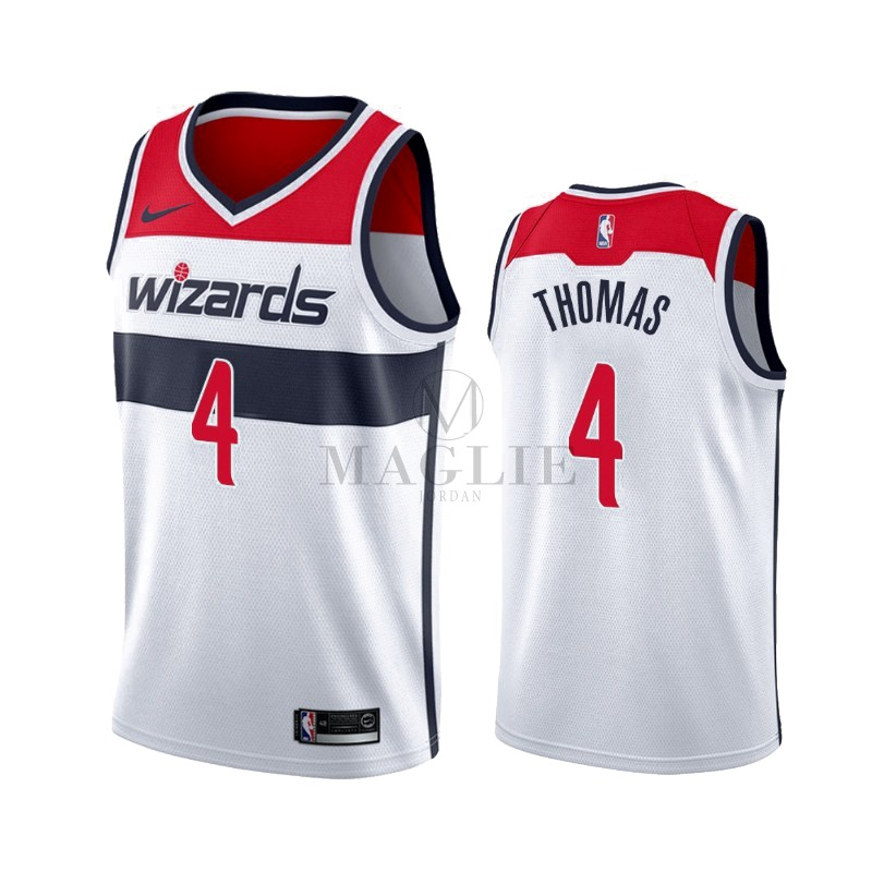 Maglia NBA Nike Washington Wizards NO.4 Isaiah Thomas Bianco Association 2019-20 A Poco Prezzo Online