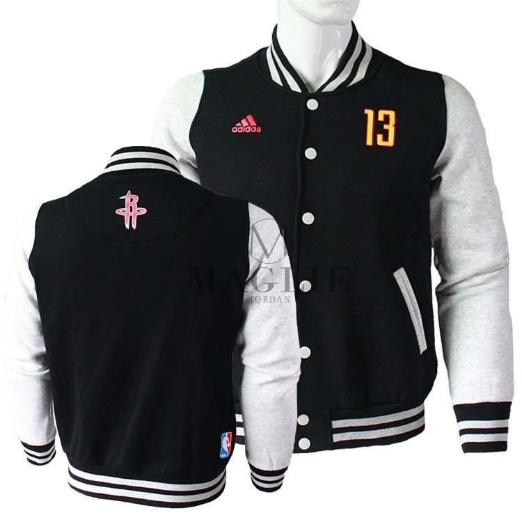 Giacca Di Lana NBA Houston Rockets NO.13 James Harden Nero A Poco Prezzo Online