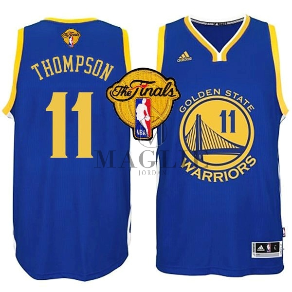 Maglia NBA Golden State Warriors Finale NO.11 Thompson Blu A Poco Prezzo Online