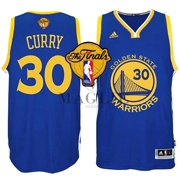 Maglia NBA Golden State Warriors Finale NO.30 Curry Blu A Poco Prezzo Online
