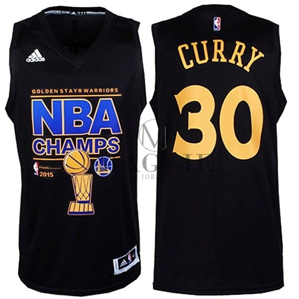 Maglia NBA Golden State Warriors Finale NO.30 Curry Nero A Poco Prezzo Online