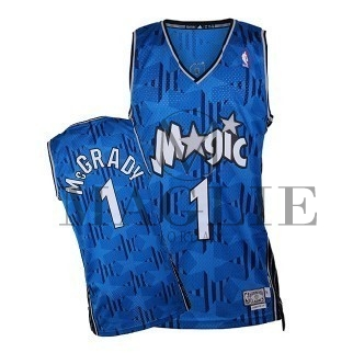 Maglia NBA Orlando Magic NO.1 Tracy McGrady Blu Scuro A Poco Prezzo Online