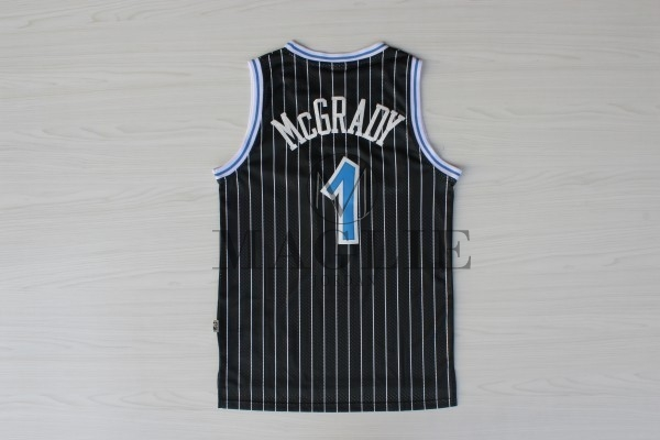 Maglia NBA Orlando Magic NO.1 Tracy McGrady Nero A Poco Prezzo Online