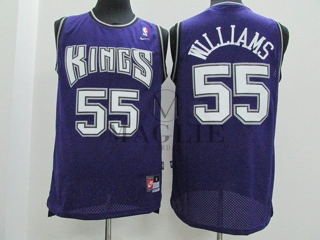Maglia NBA Sacramento Kings NO.55 Jason Williams Porpora A Poco Prezzo Online