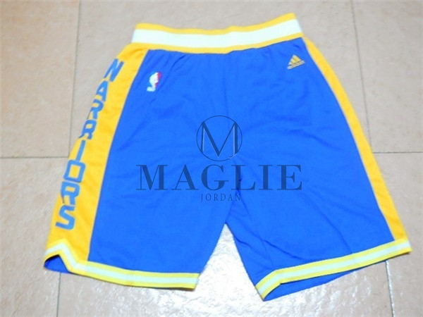 Pantaloni Basket Golden State Warriors Retro Blu A Poco Prezzo Online